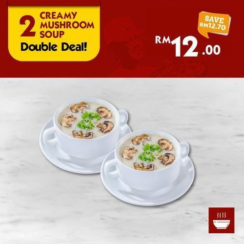 2 Creamy Mushroom Soup US Pizza