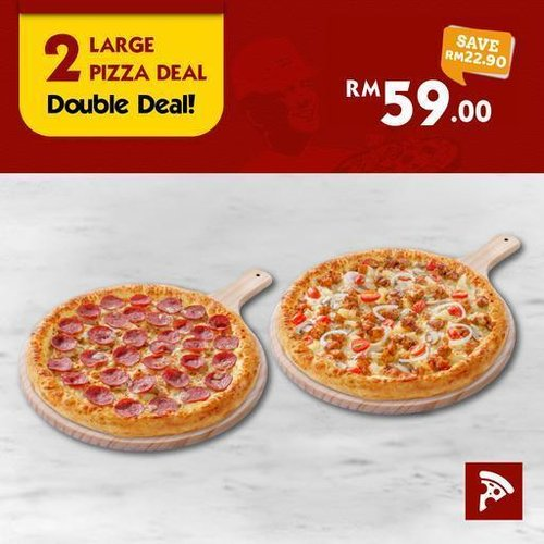 2 Large Pizza Deal US Pizza