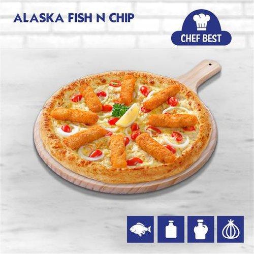 Alaska Fish n Chip Pizza