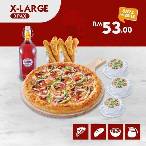 All New X-Large US Pizza