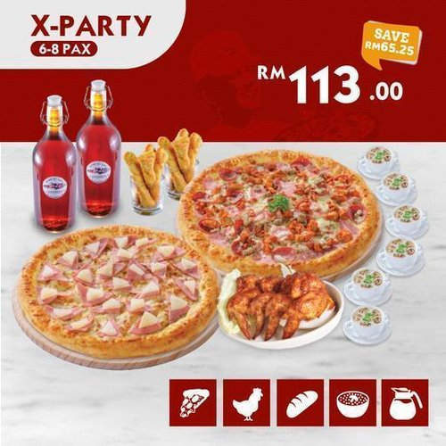 All New X-Party US Pizza