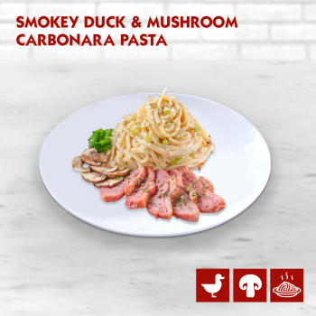 Smokey Duck and Mushroom Carbonara Pasta US Pizza