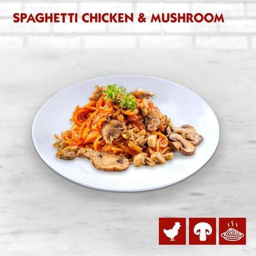 Spaghetti Chicken and Mushroom