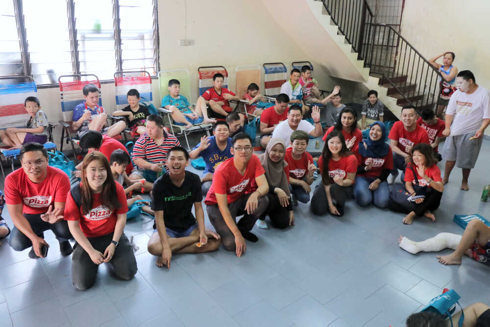 US Pizza Malaysia CSR Chinese New Year 2019 Disabled Home
