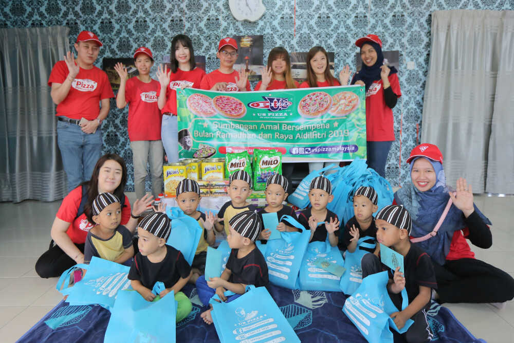 US Pizza Malaysia CSR Ramadhan 2019 Orphanage