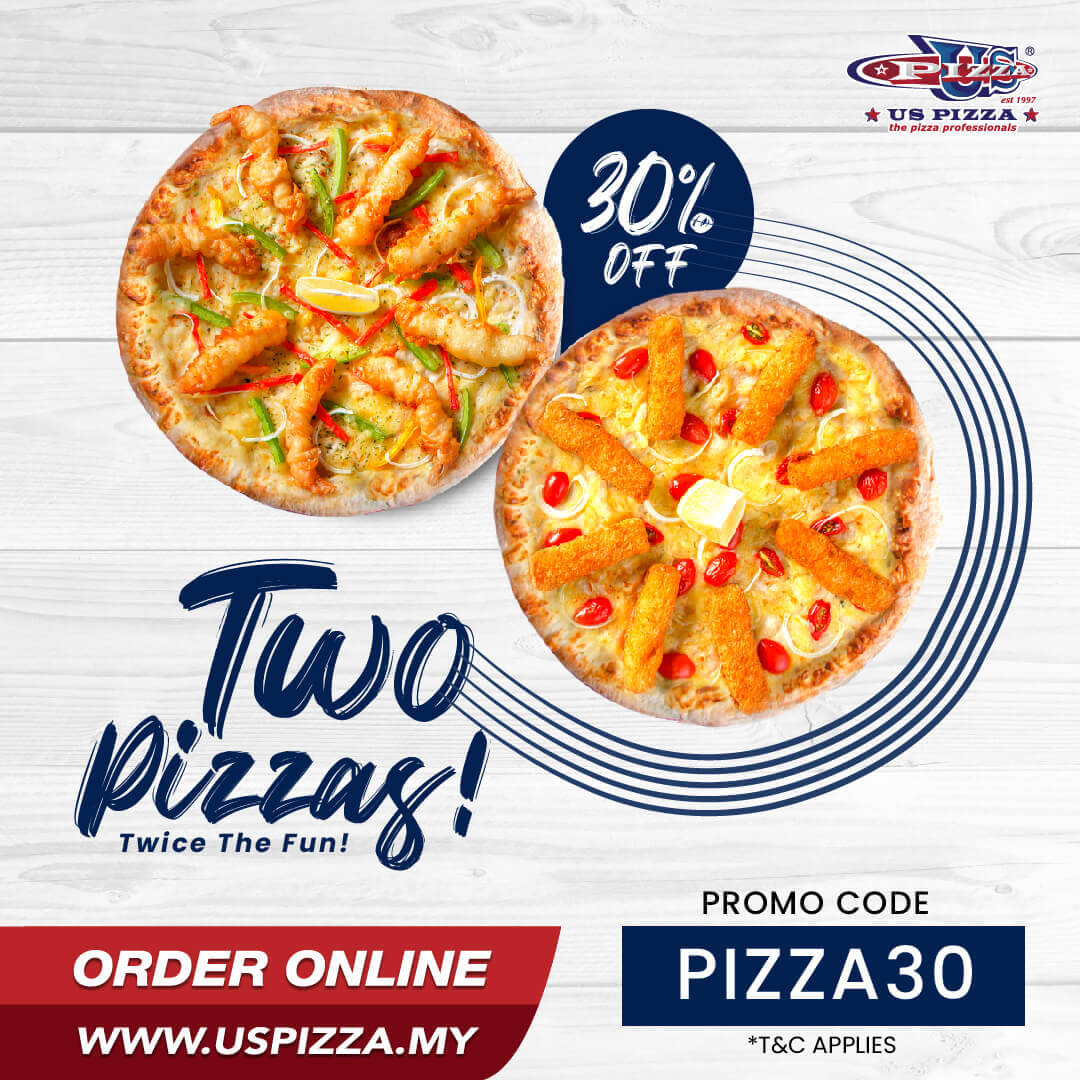 US Pizza Malaysia Promotion 30% Off