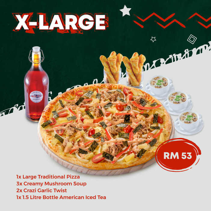US Pizza Malaysia Promotion X Large Pizza