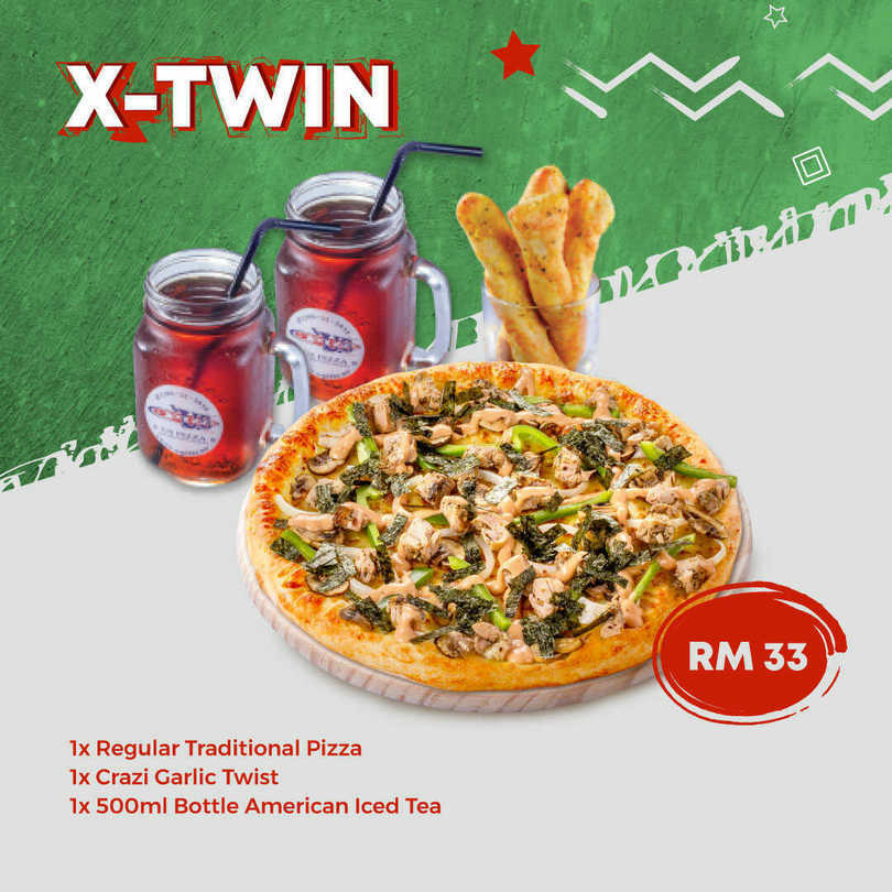 US Pizza Malaysia Promotion X Twin Pizza