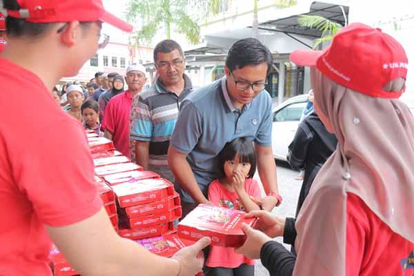 Us Pizza Malaysia CSR Masjid Jamek Telaga Air Ramadan 2019