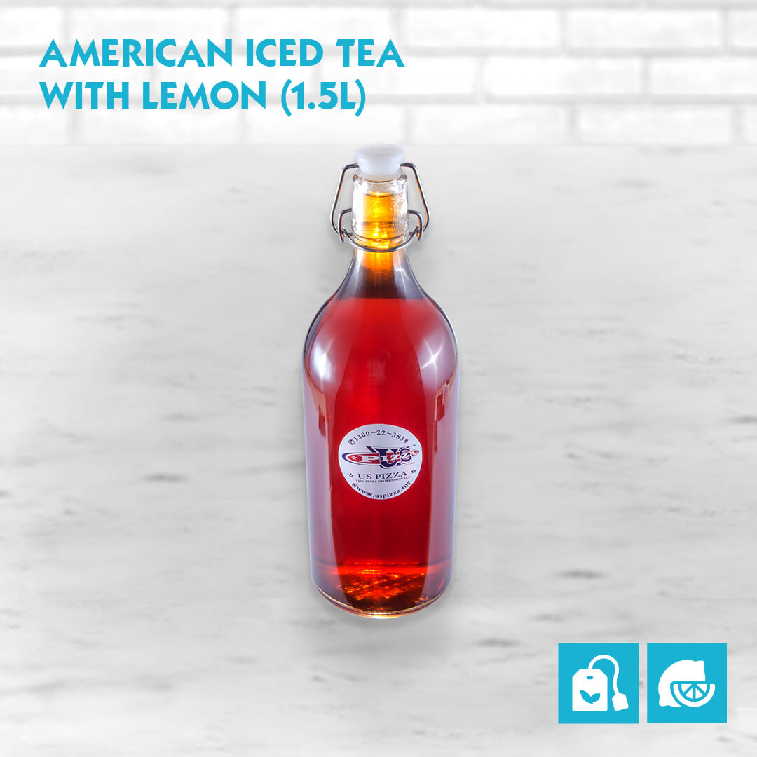 US Pizza Malaysia Menu American Iced Tea With Lemon 1.5 Liter