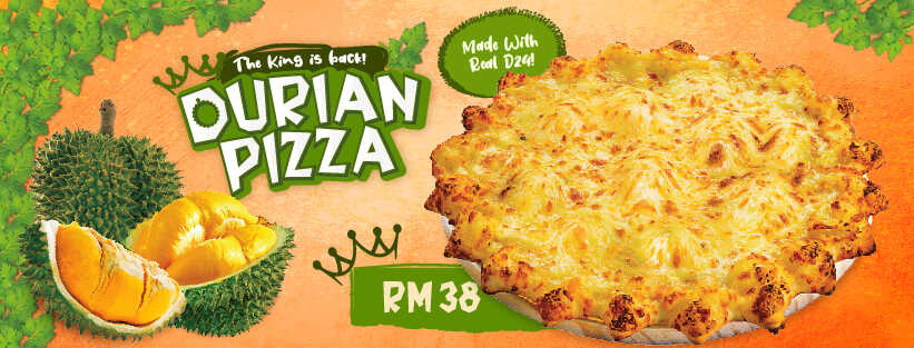 US Pizza Malaysia Promotion Durian Pizza
