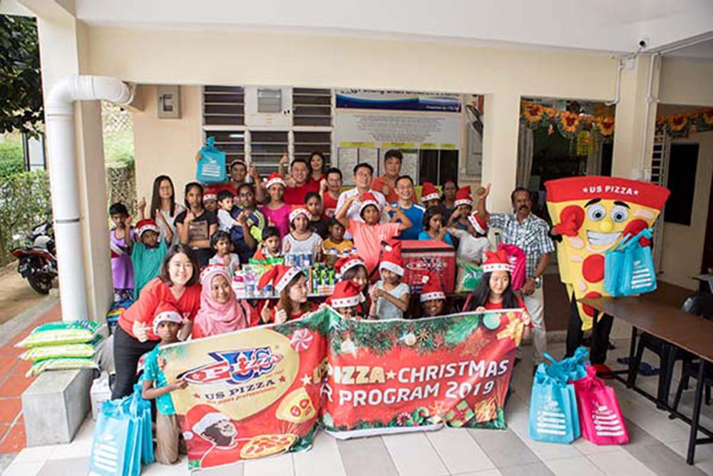 Us Pizza Malaysia CSR Christmas Contribution Shan Children's Home